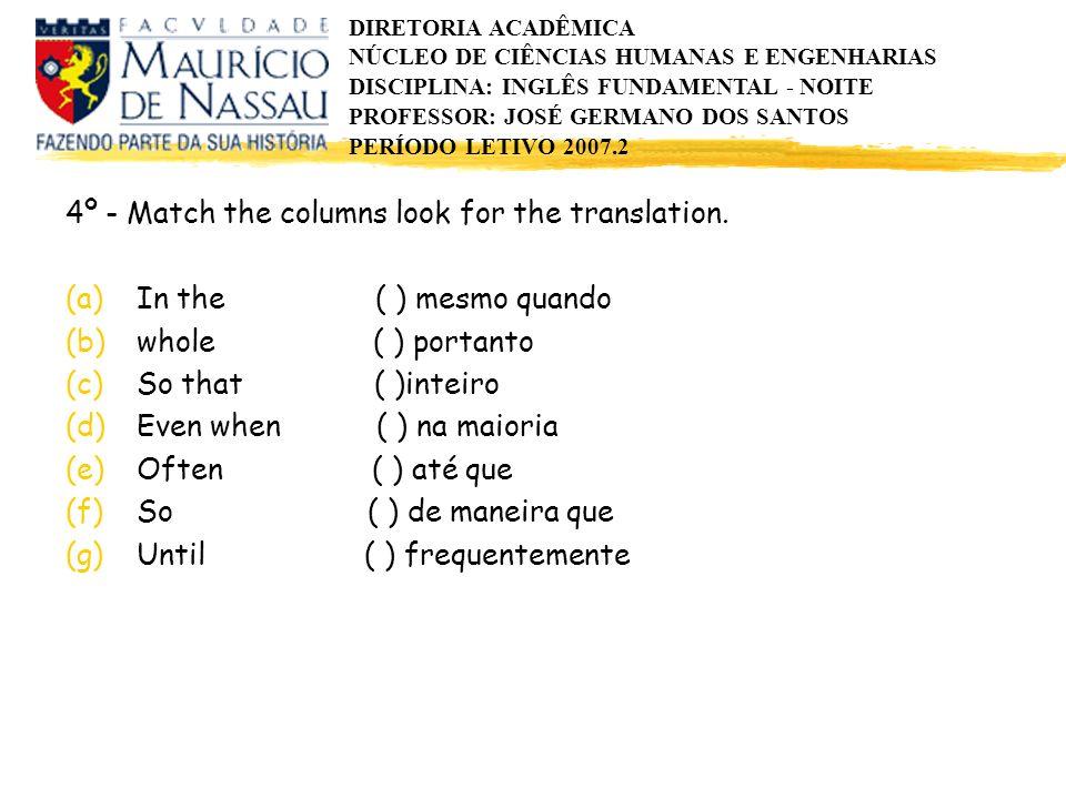 DIRETORIA ACADÊMICA NÚCLEO DE CIÊNCIAS HUMANAS E ENGENHARIAS DISCIPLINA: INGLÊS FUNDAMENTAL - NOITE PROFESSOR: JOSÉ GERMANO DOS SANTOS PERÍODO LETIVO 2007.2 WORDS OF CONNECTION - (CONECTIVOS) Ricardo Schütz Ricardo Schütz As listas abaixo se constituem numa ajuda decisiva para quem compõe textos em inglês.