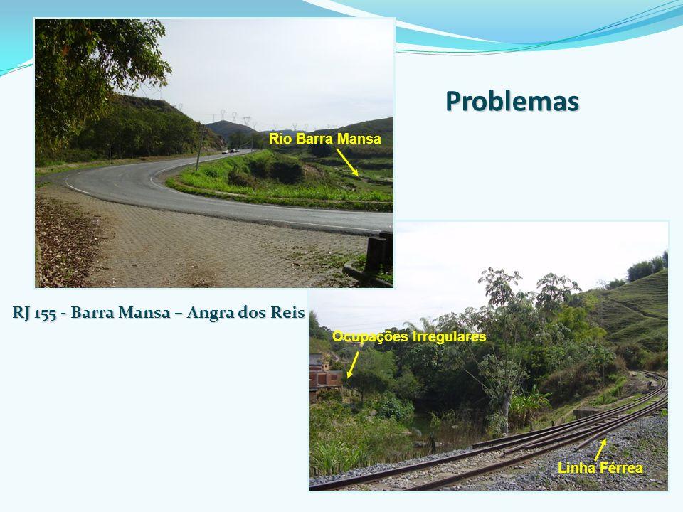 Rio Barra Mansa RJ 155 - Barra Mansa – Angra dos Reis Ocupações Irregulares Linha Férrea Problemas