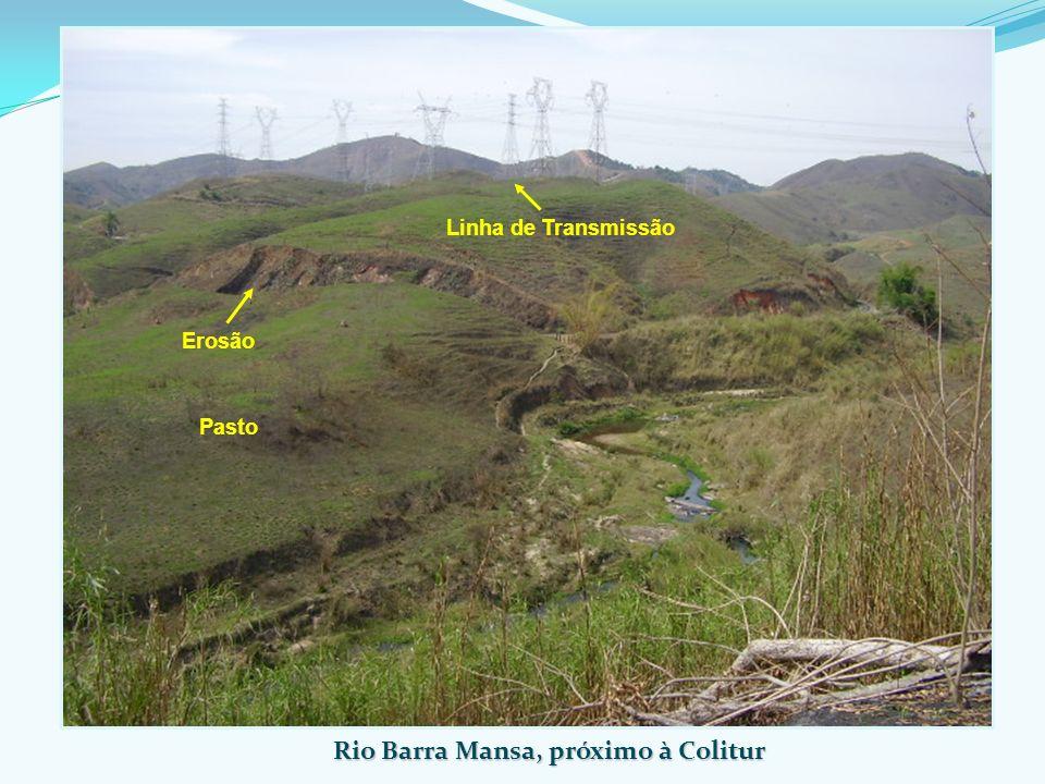 Rio Barra Mansa, próximo à Colitur Linha de Transmissão Erosão Pasto
