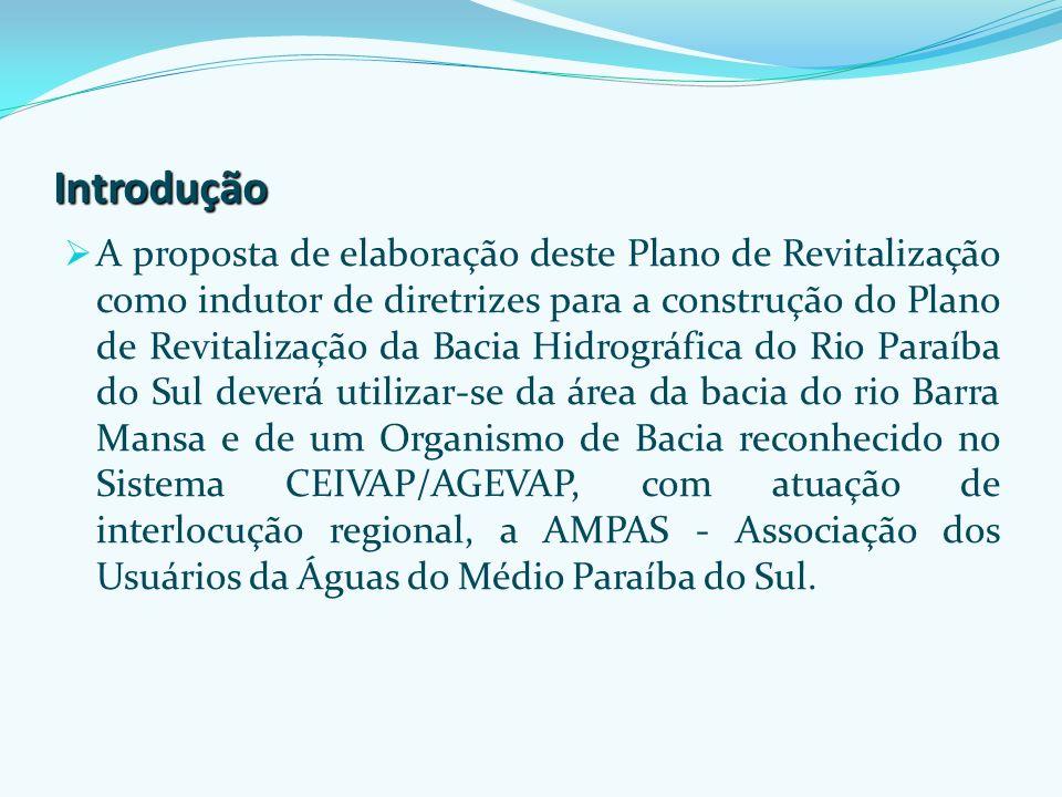 Empresa concedente AGEVAP - Associação Pró Gestão das Águas da Bacia Hidrográfica do Rio Paraíba do Sul: Agência de Bacia que recebe os recursos oriundos da cobrança pelo uso da água bruta na bacia e investe segundo o plano de investimentos aprovado pelo Comitê da Bacia – CEIVAP.