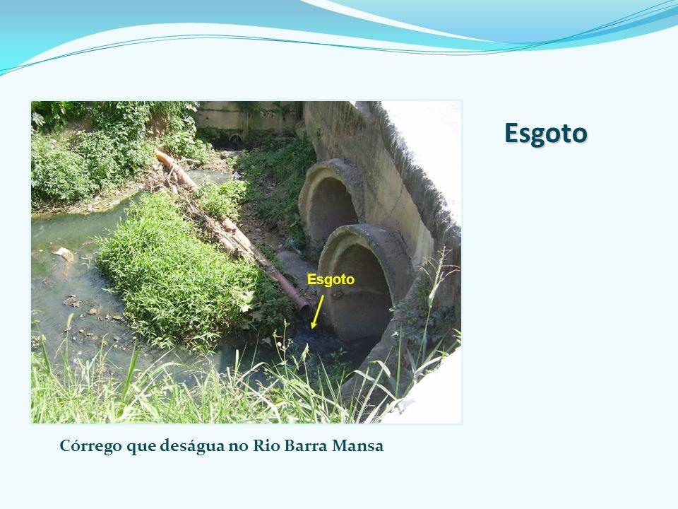 Córrego que deságua no Rio Barra Mansa Esgoto Esgoto