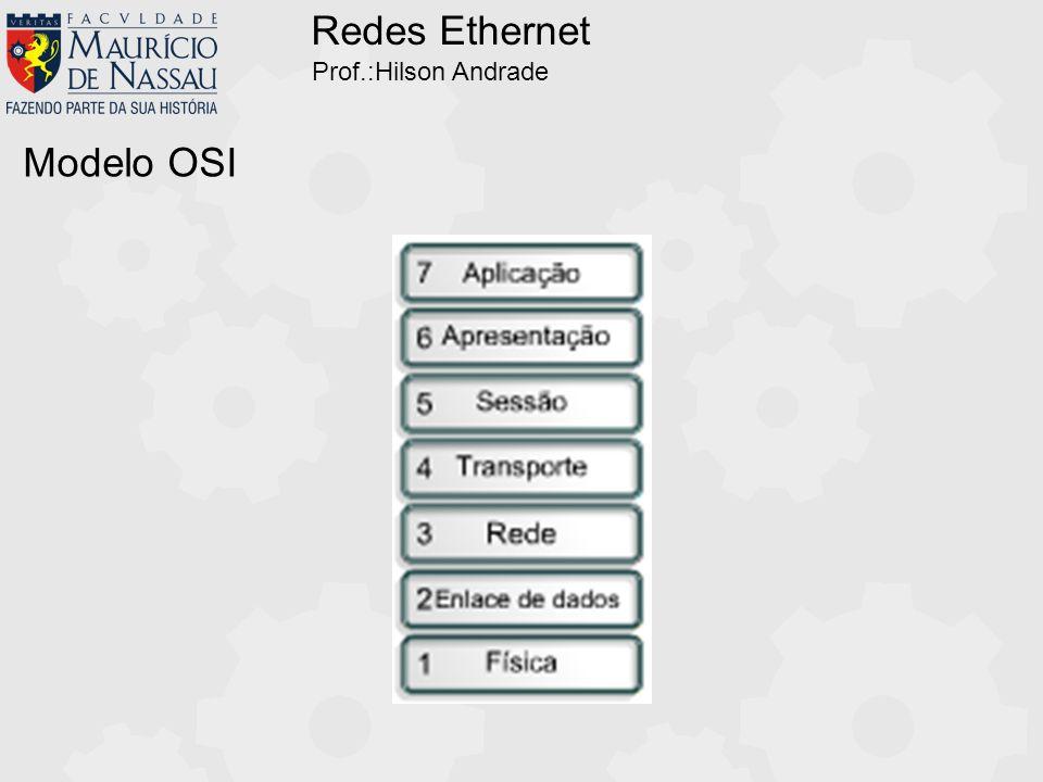 Redes Ethernet Prof.:Hilson Andrade Cabeamento Estruturado 1 8