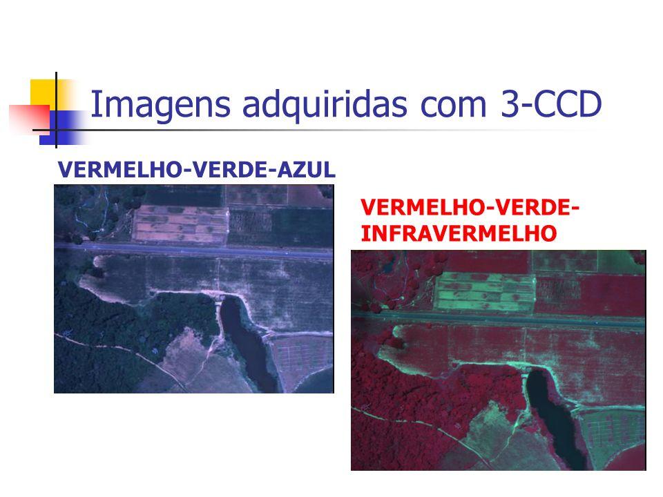 Imagens adquiridas com 3-CCD VERMELHO-VERDE-AZUL VERMELHO-VERDE- INFRAVERMELHO