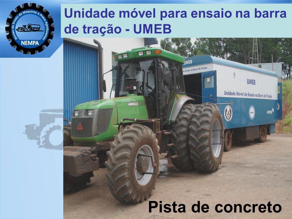 Unidade móvel para ensaio na barra de tração - UMEB Pista de concreto
