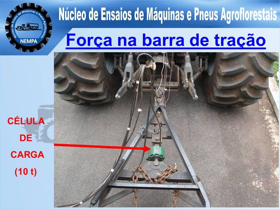 Força na barra de tração CÉLULA DE CARGA (10 t)