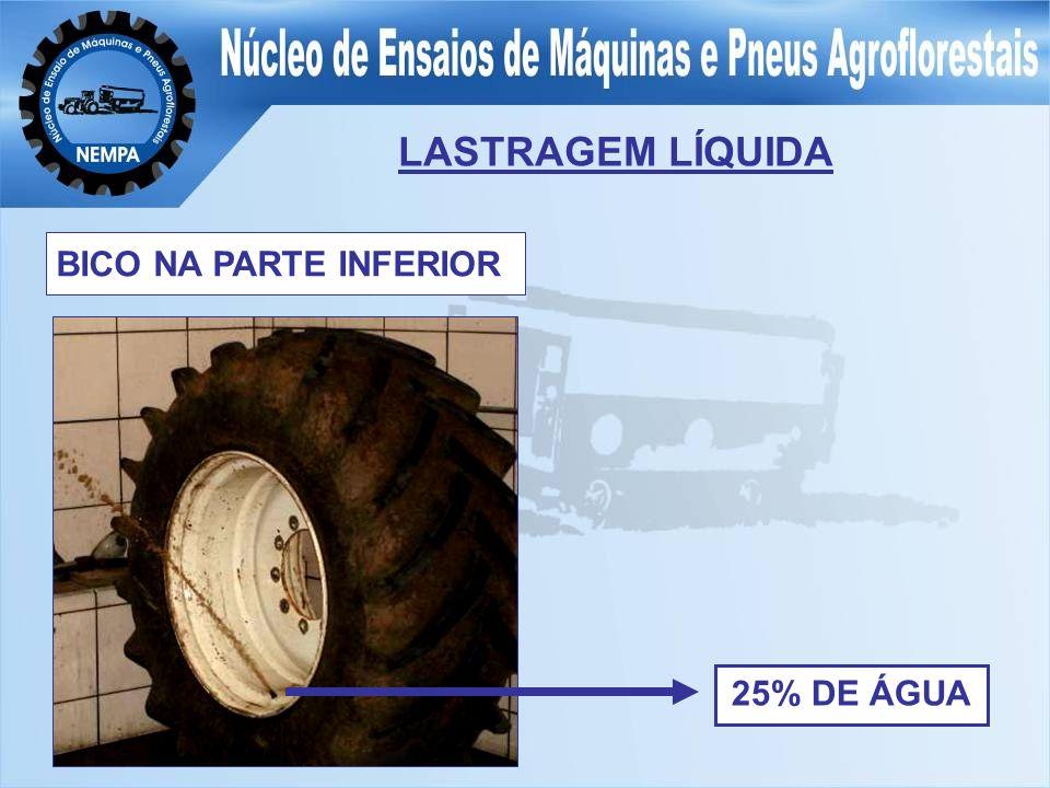 LASTRAGEM LÍQUIDA BICO NA PARTE INFERIOR 25% DE ÁGUA