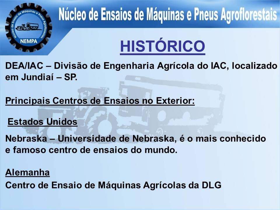 HISTÓRICO DEA/IAC – Divisão de Engenharia Agrícola do IAC, localizado em Jundiaí – SP.