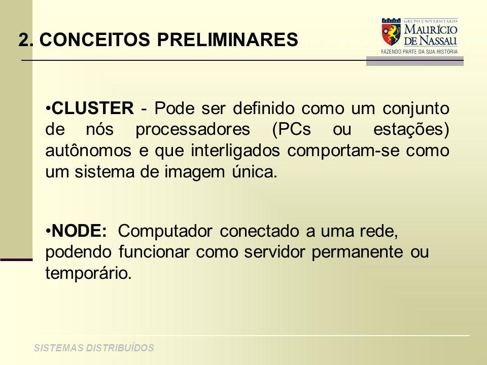 ANÁLISE DE PROJETO DE SISTEMAS ORIENTADOS A OBJETO SISTEMAS DISTRIBUÍDOS 2. CONCEITOS PRELIMINARES