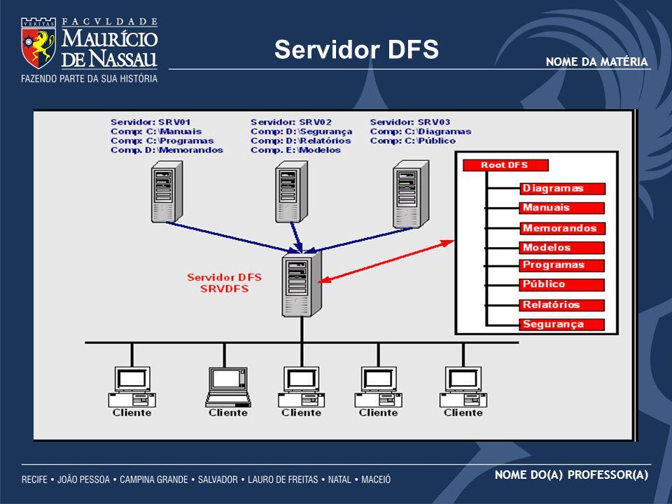 NOME DA MATÉRIA NOME DO(A) PROFESSOR(A) SOLUÇÃO Uma vez criado o Root DFS, começamos a criar Links DFS.