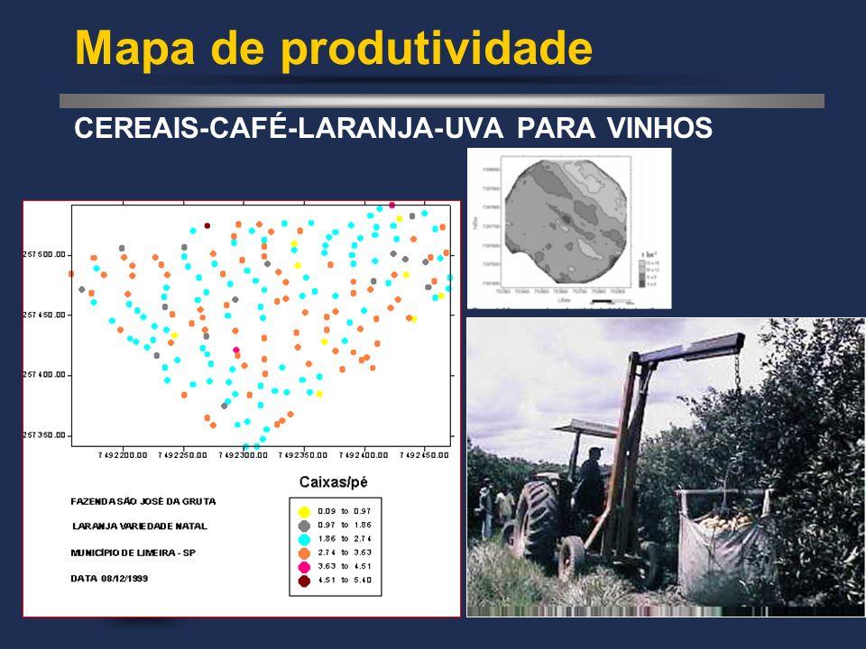 Mapa de produtividade CEREAIS-CAFÉ-LARANJA-UVA PARA VINHOS