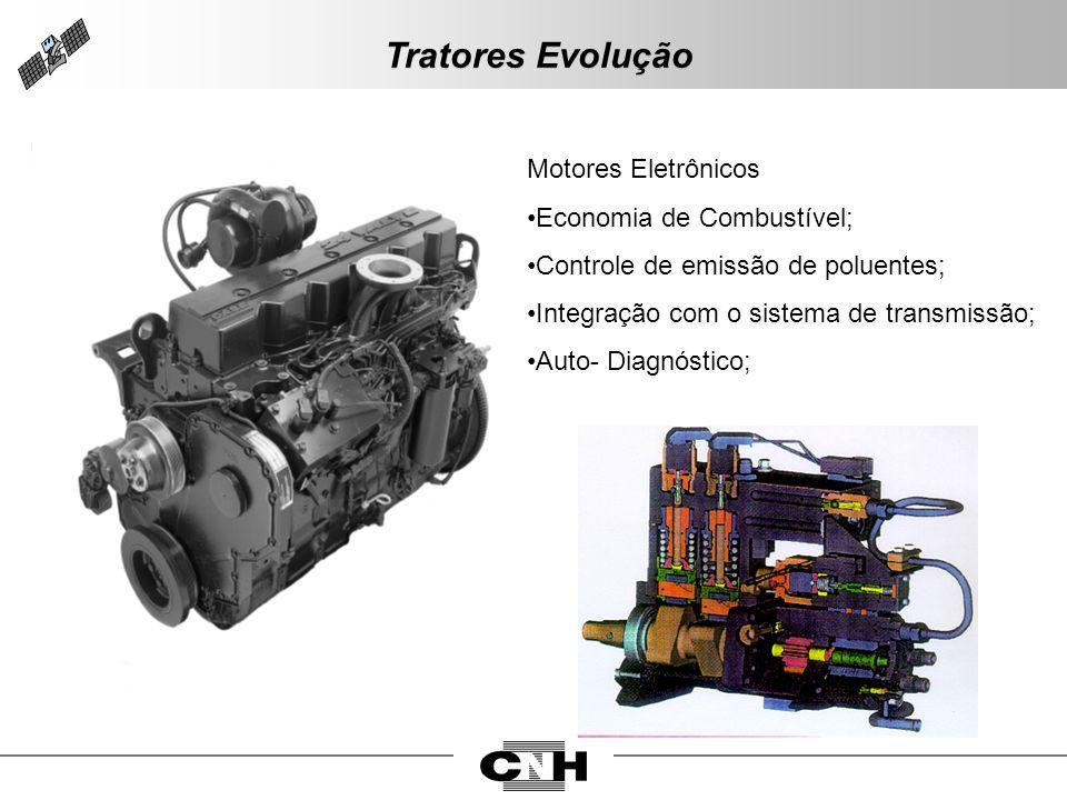 Motores Eletrônicos Economia de Combustível; Controle de emissão de poluentes; Integração com o sistema de transmissão; Auto- Diagnóstico; Tratores Ev