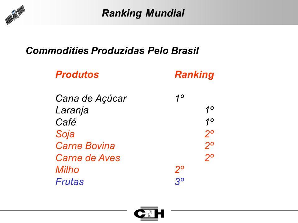 Ranking Mundial Commodities Produzidas Pelo Brasil ProdutosRanking Cana de Açúcar1º Laranja1º Café1º Soja2º Carne Bovina2º Carne de Aves2º Milho2º Fru