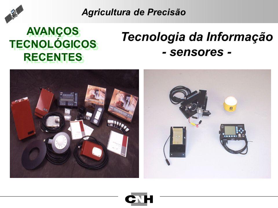 AVANÇOS TECNOLÓGICOS RECENTES AVANÇOS TECNOLÓGICOS RECENTES Tecnologia da Informação - sensores - Agricultura de Precisão