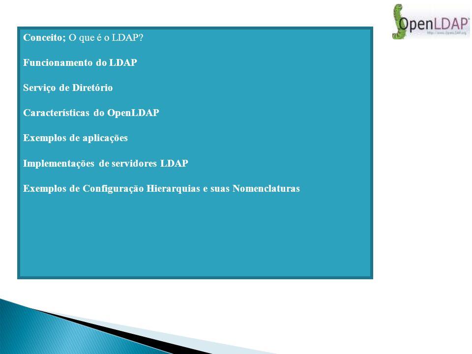 Hierarquia da estrutura de Dados do Ldap