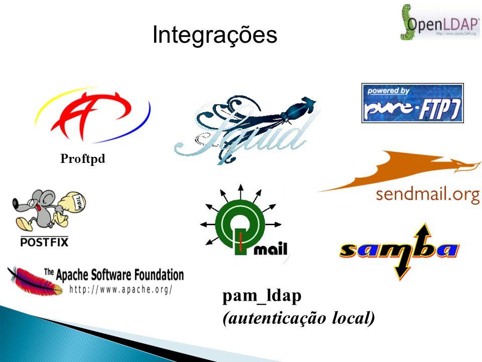 pam_ldap (autenticação local) Proftpd Integrações