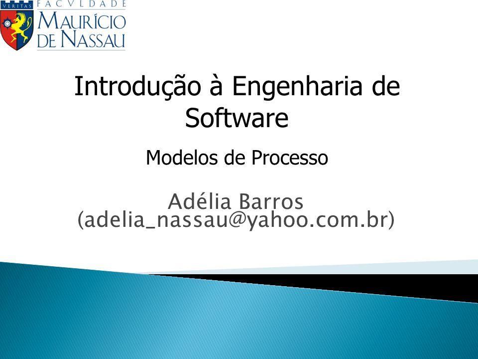 Processo de Software – Modelo Cascata Engenharia de Sistemas Análise de Requisitos Projeto Codificação Testes Manutenção TESTES Concentram-se: 1.