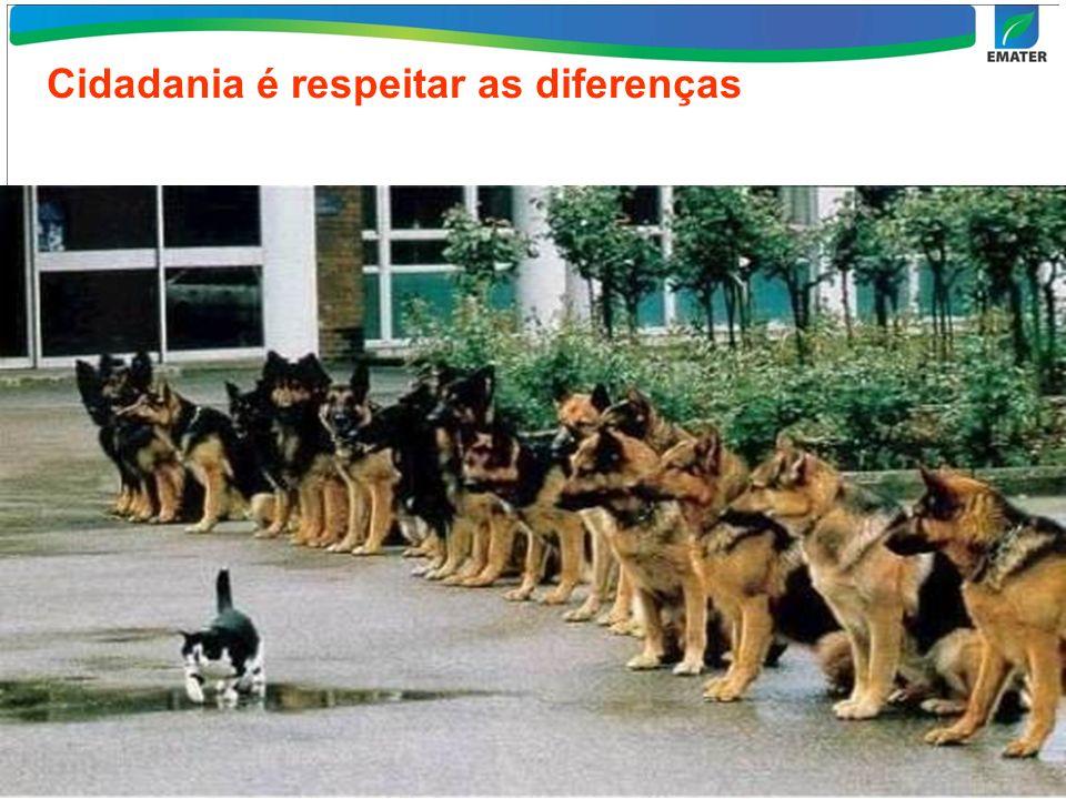Cidadania é respeitar as diferenças