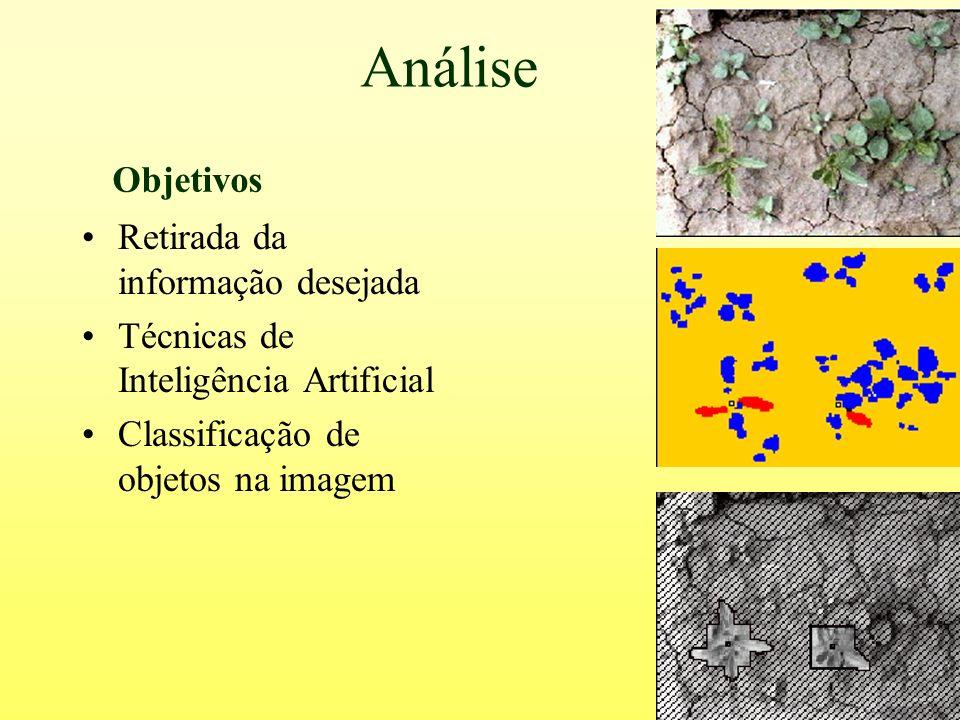 Análise Retirada da informação desejada Técnicas de Inteligência Artificial Classificação de objetos na imagem Objetivos