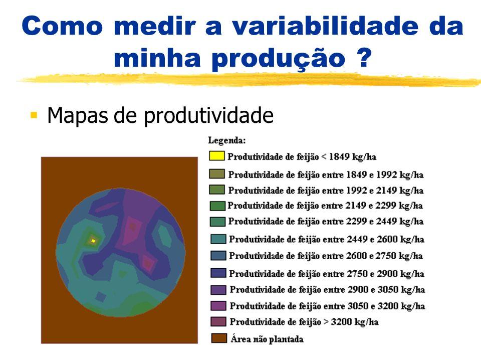 Como medir a variabilidade da minha produção ? Mapas de produtividade