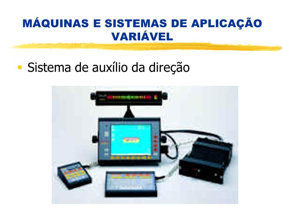 MÁQUINAS E SISTEMAS DE APLICAÇÃO VARIÁVEL Sistema de auxílio da direção
