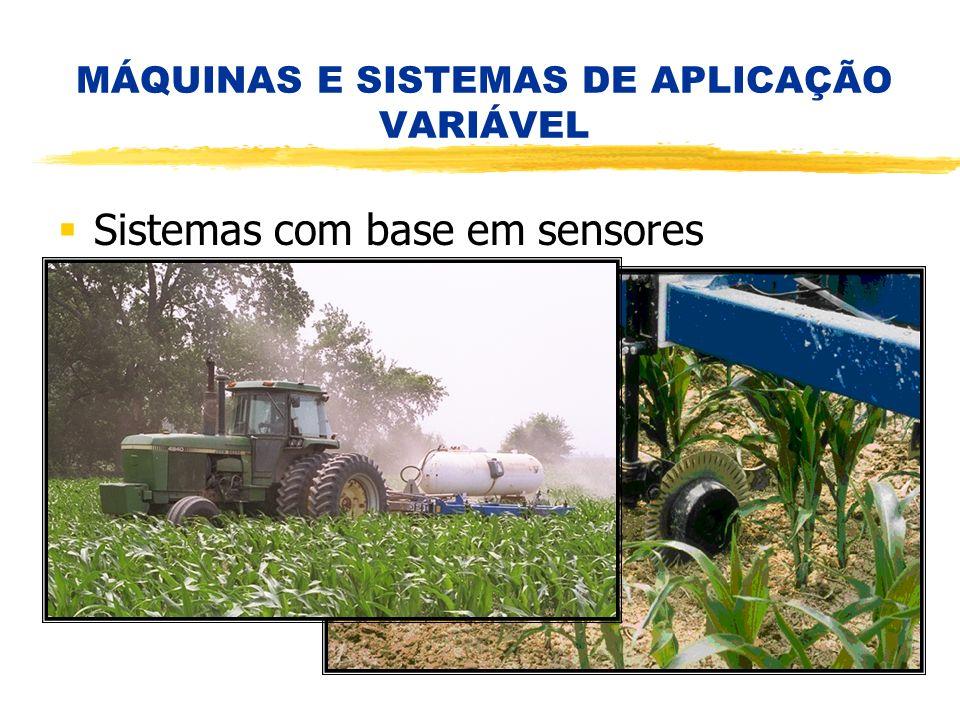 MÁQUINAS E SISTEMAS DE APLICAÇÃO VARIÁVEL Sistemas com base em sensores