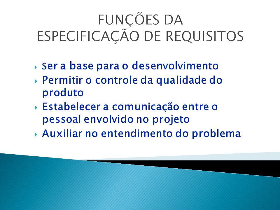 ETAPAS Solicitação do Cliente Diagnóstico da Situação Atual Especificação dos Requisitos Aprovação dos Requisitos Orçamento Aprovação do Orçamento