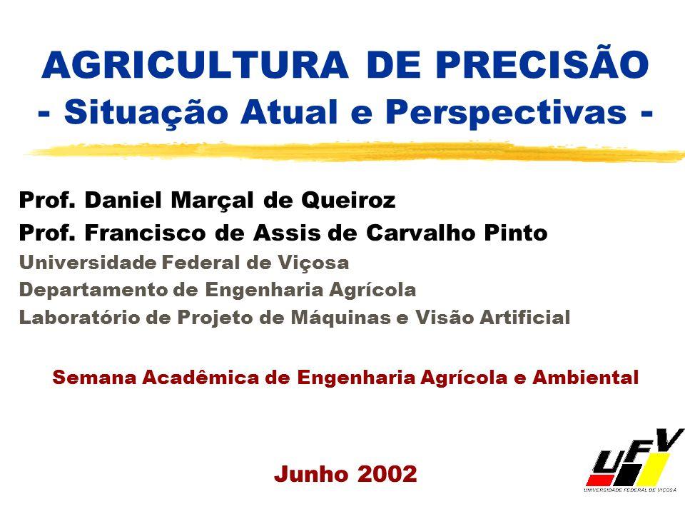AGRICULTURA DE PRECISÃO - Situação Atual e Perspectivas - Prof. Daniel Marçal de Queiroz Prof. Francisco de Assis de Carvalho Pinto Universidade Feder