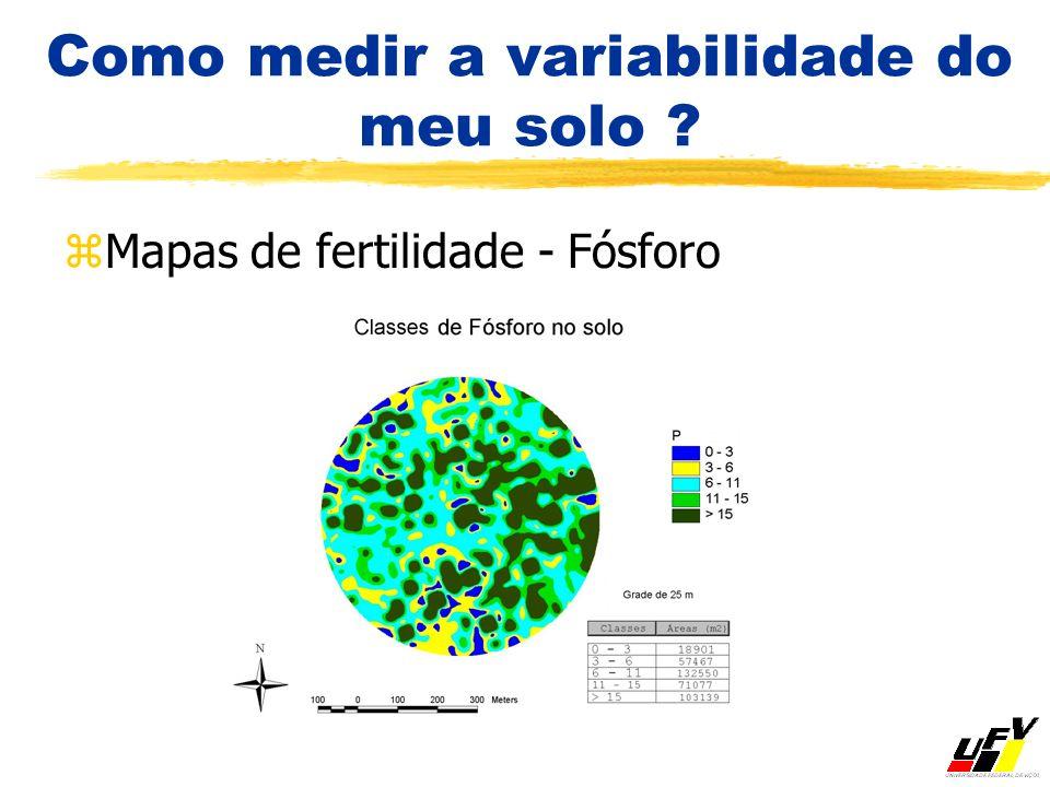 Como medir a variabilidade do meu solo ? zMapas de fertilidade - Fósforo