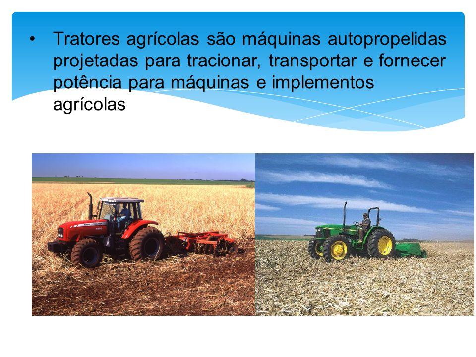 O sistema de transmissão deve apresentar velocidades escalonadas Em diversas operações agrícolas a velocidade do trator tem influência na qualidade da operação.