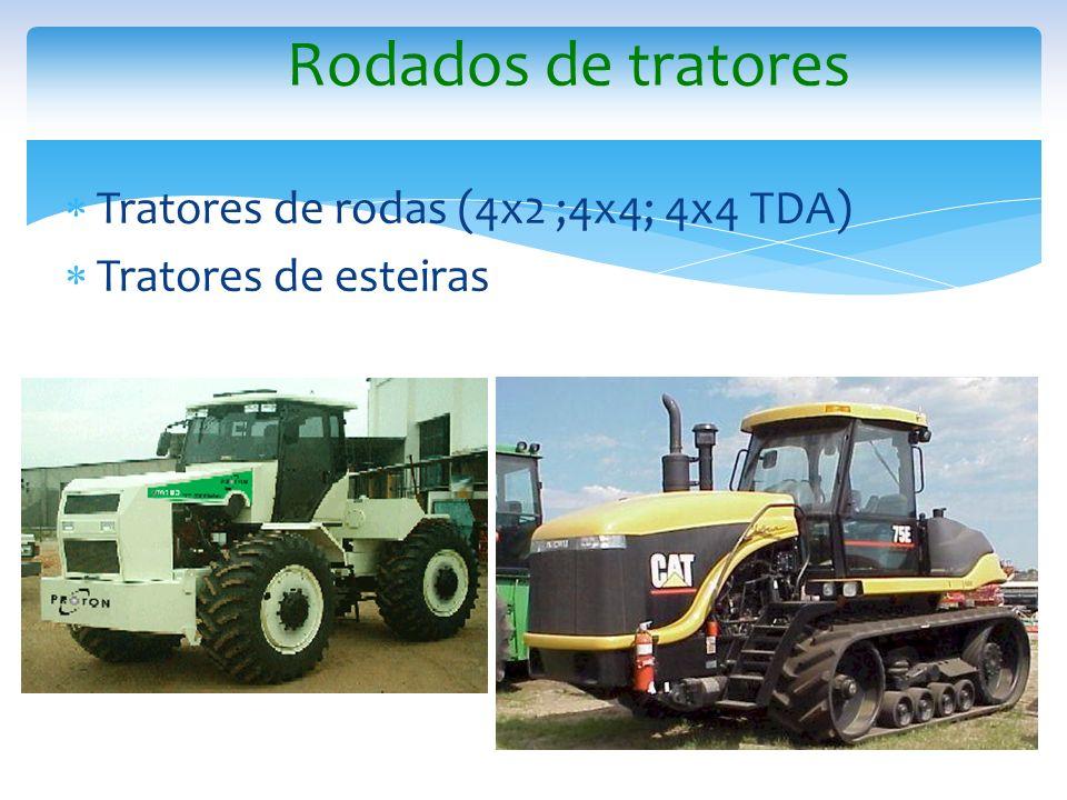 Tratores de rodas (4x2 ;4x4; 4x4 TDA) Tratores de esteiras Rodados de tratores