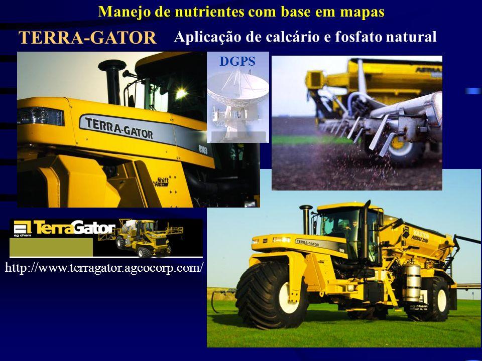 TERRA-GATOR Manejo de nutrientes com base em mapas Aplicação de calcário e fosfato natural DGPS http://www.terragator.agcocorp.com/
