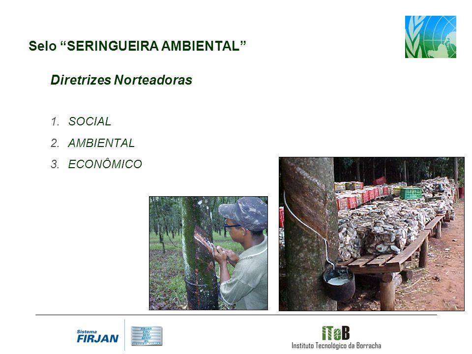 Selo SERINGUEIRA AMBIENTAL Diretrizes Norteadoras SOCIAL AMBIENTAL ECONÔMICO