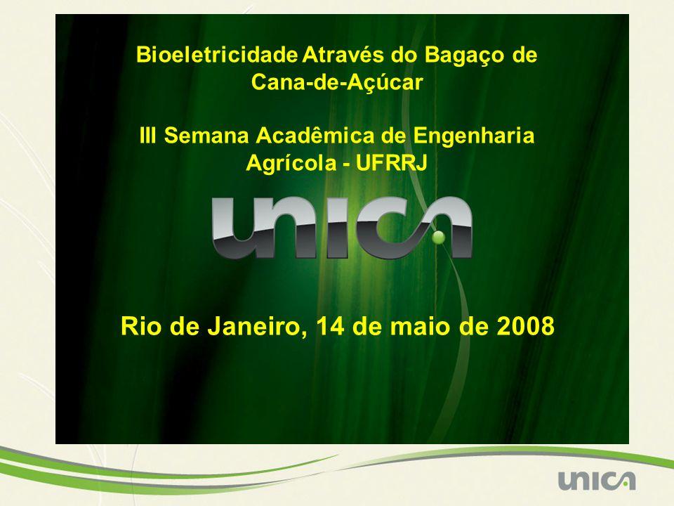 1 ton de cana 1/3 >> caldo de cana 1/3 >> caldo de cana (açúcar e etanol) 1/3 >> bagaço 1/3 >> bagaço (bioeletricidade) 1/3 >> palha (adubo 1/3 >> palha (adubo e bioeletricidade) Em Energia Primária: 1 Tonelada de Cana = 1,2 Barris de Petróleo Equivalente.