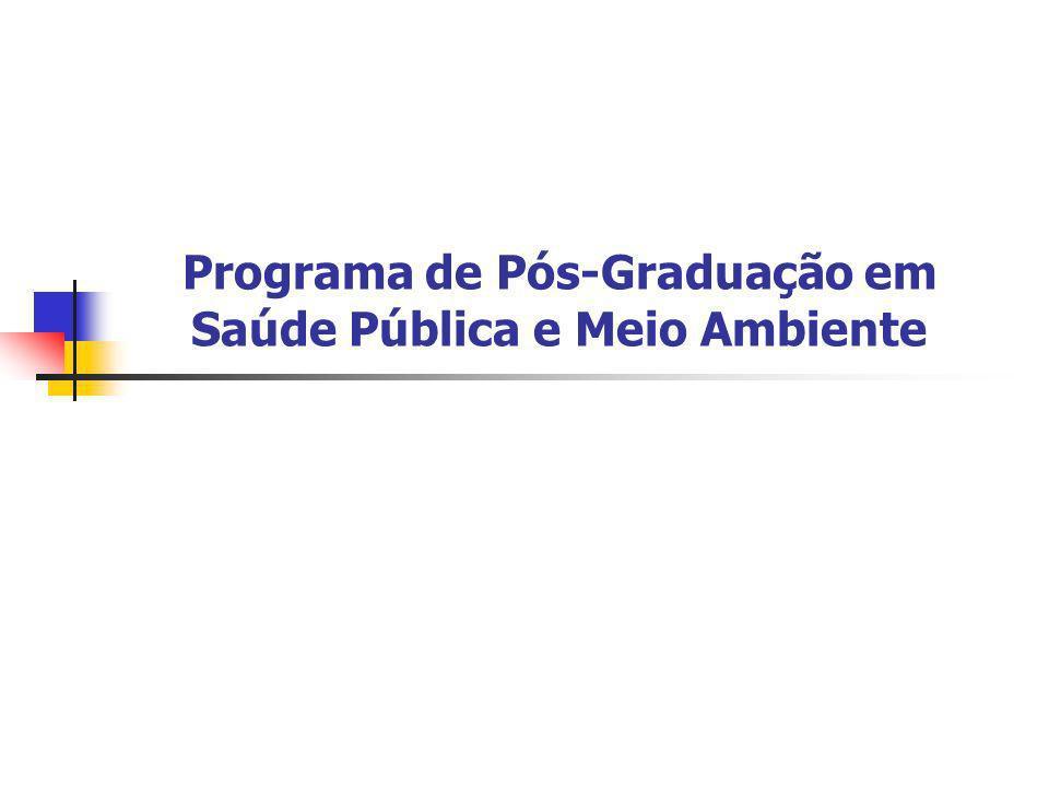 Programa de Pós-Graduação em Saúde Pública e Meio Ambiente