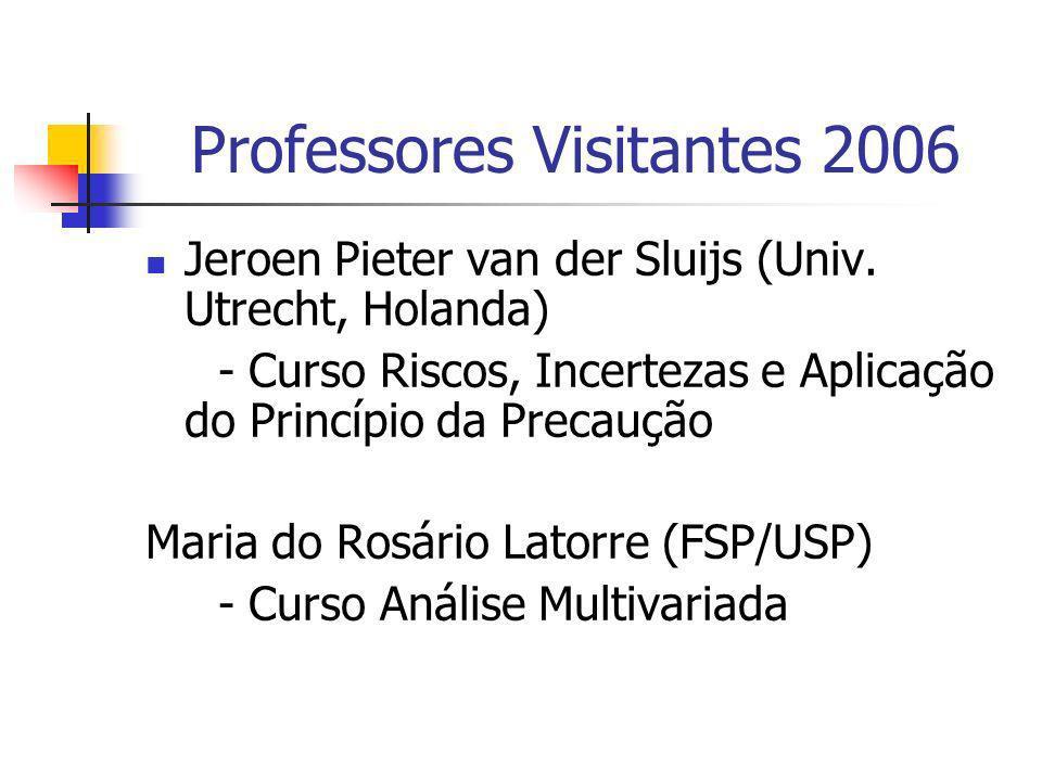 Professores Visitantes 2006 Jeroen Pieter van der Sluijs (Univ. Utrecht, Holanda) - Curso Riscos, Incertezas e Aplicação do Princípio da Precaução Mar