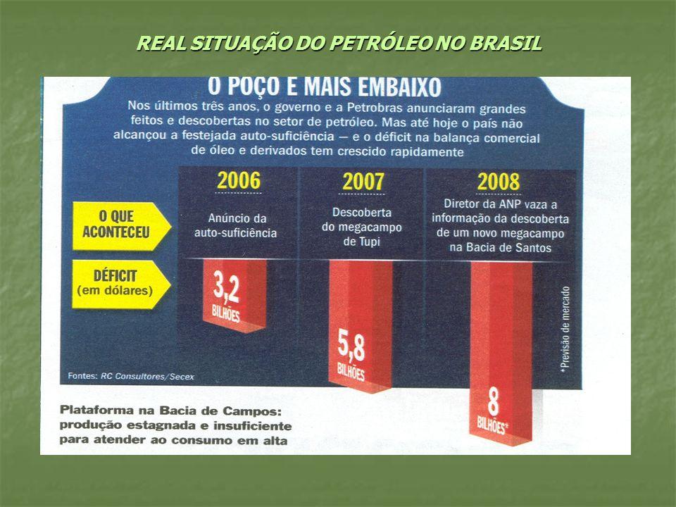 REAL SITUAÇÃO DO PETRÓLEO NO BRASIL