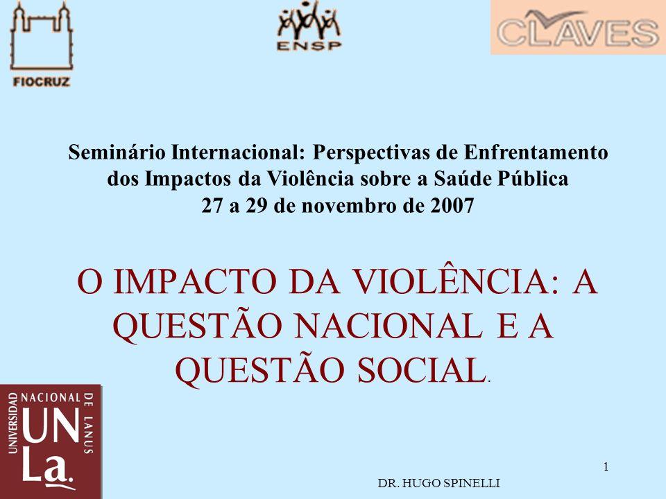 1 O IMPACTO DA VIOLÊNCIA: A QUESTÃO NACIONAL E A QUESTÃO SOCIAL.