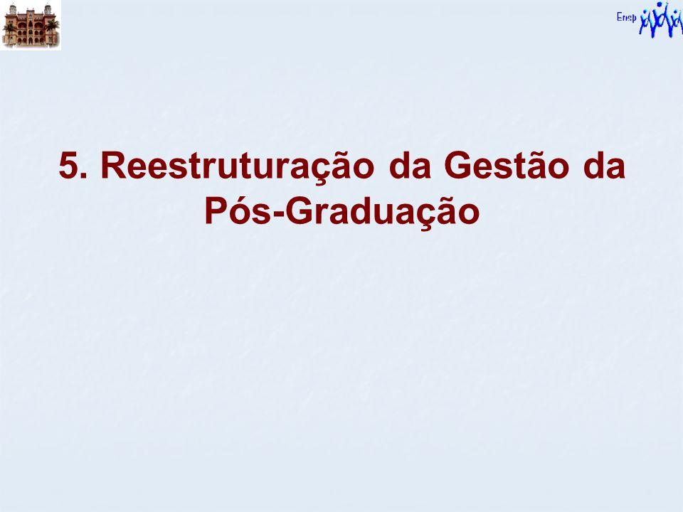 5. Reestruturação da Gestão da Pós-Graduação