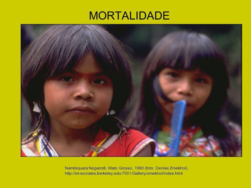 Nambiquara Negarotê, Mato Grosso, 1990 (foto: Denise Zmekhol), http://ist-socrates.berkeley.edu:7001/Gallery/zmekhol/index.html MORTALIDADE
