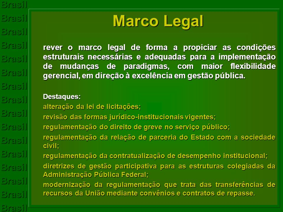 BrasilBrasilBrasilBrasilBrasilBrasilBrasilBrasilBrasilBrasilBrasilBrasilBrasilBrasilBrasilBrasil Marco Legal rever o marco legal de forma a propiciar