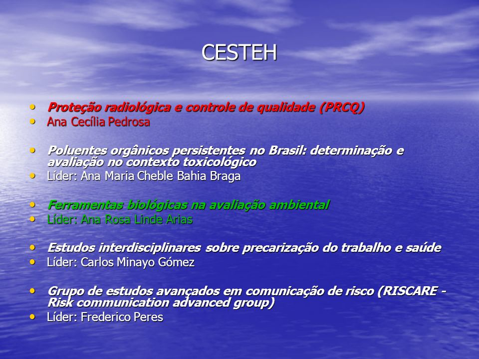 CESTEH Proteção radiológica e controle de qualidade (PRCQ) Proteção radiológica e controle de qualidade (PRCQ) Ana Cecília Pedrosa Ana Cecília Pedrosa