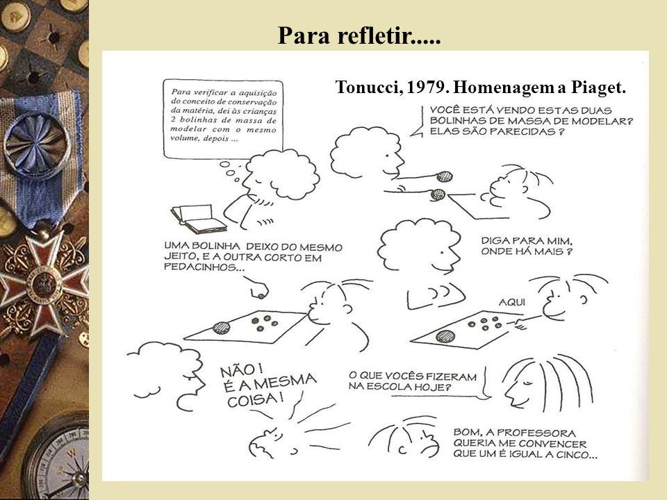 Tonucci, 1979. Homenagem a Piaget. Para refletir.....
