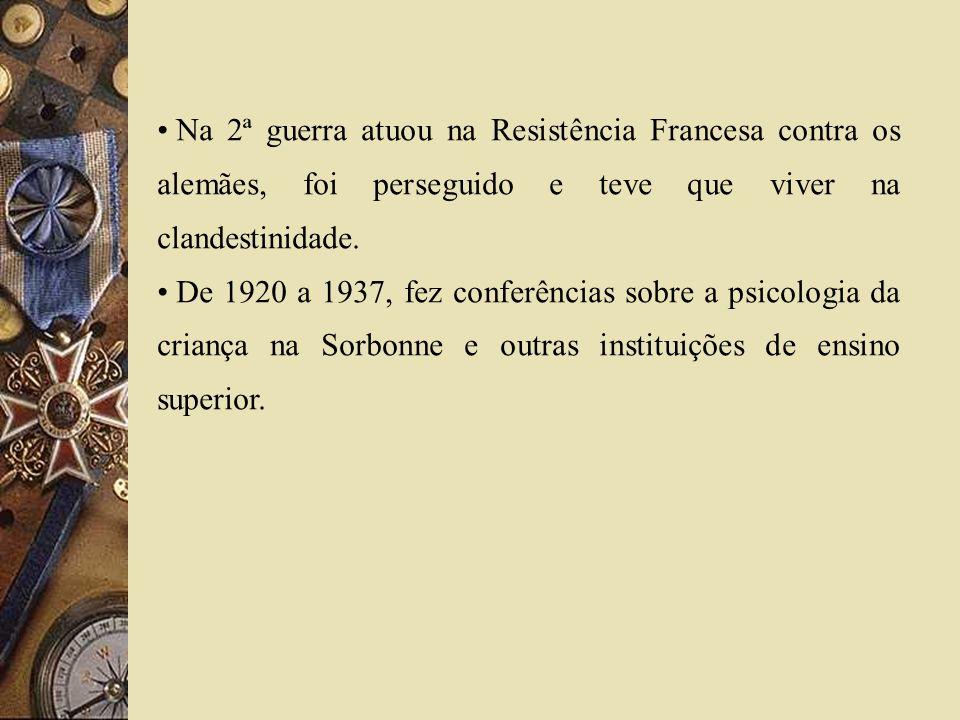 Na 2ª guerra atuou na Resistência Francesa contra os alemães, foi perseguido e teve que viver na clandestinidade. De 1920 a 1937, fez conferências sob