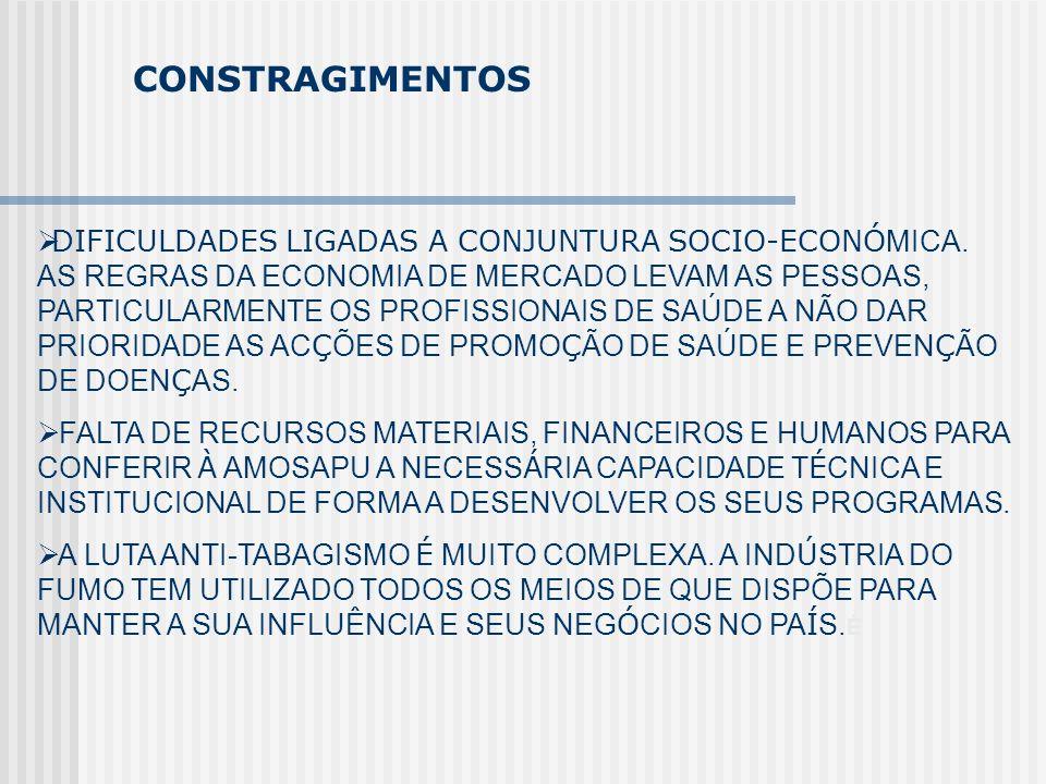 CONSTRAGIMENTOS DIFICULDADES LIGADAS A CONJUNTURA SOCIO-ECONÓ MICA. AS REGRAS DA ECONOMIA DE MERCADO LEVAM AS PESSOAS, PARTICULARMENTE OS PROFISSIONAI