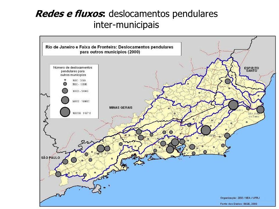 Redes e fluxos: deslocamentos pendulares inter-municipais