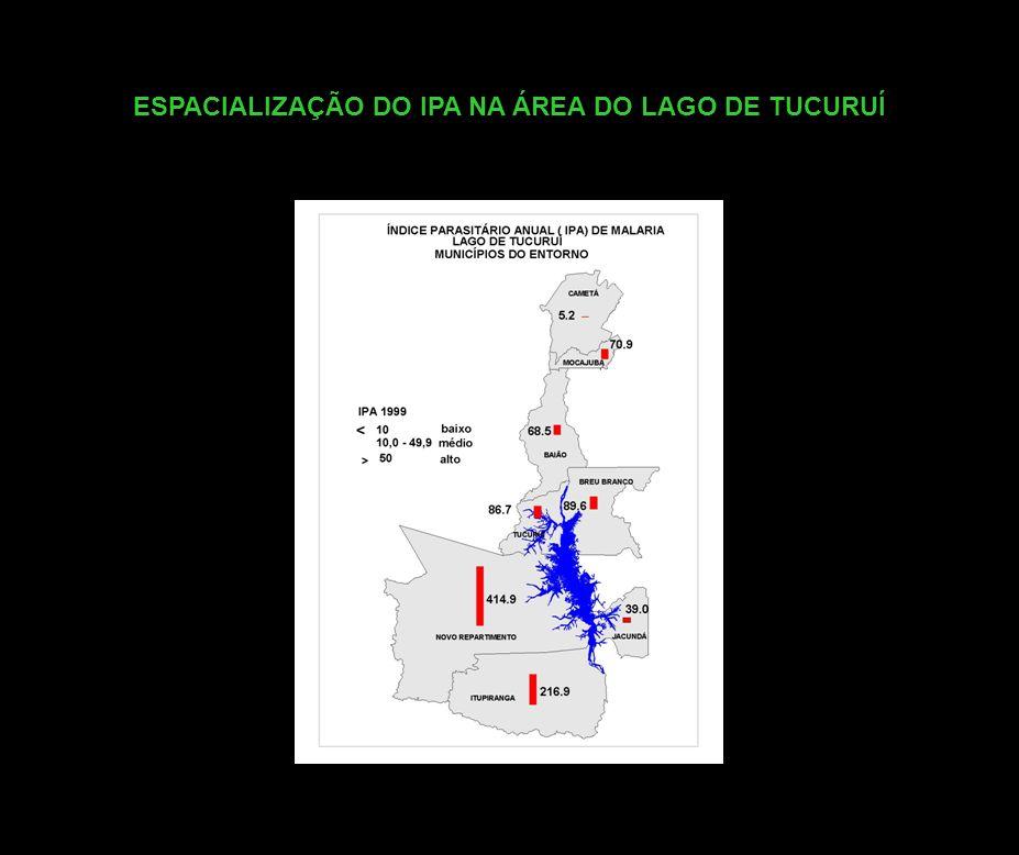 ESPACIALIZAÇÃO DO IPA NA ÁREA DO LAGO DE TUCURUÍ