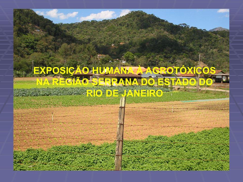 EXPOSIÇÃO HUMANA À AGROTÓXICOS NA REGIÃO SERRANA DO ESTADO DO RIO DE JANEIRO