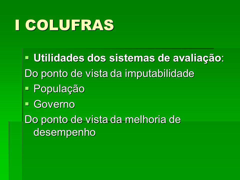 I COLUFRAS Brasil: V EUROLAC - desempenho da região no alcance das Metas do Milênio.