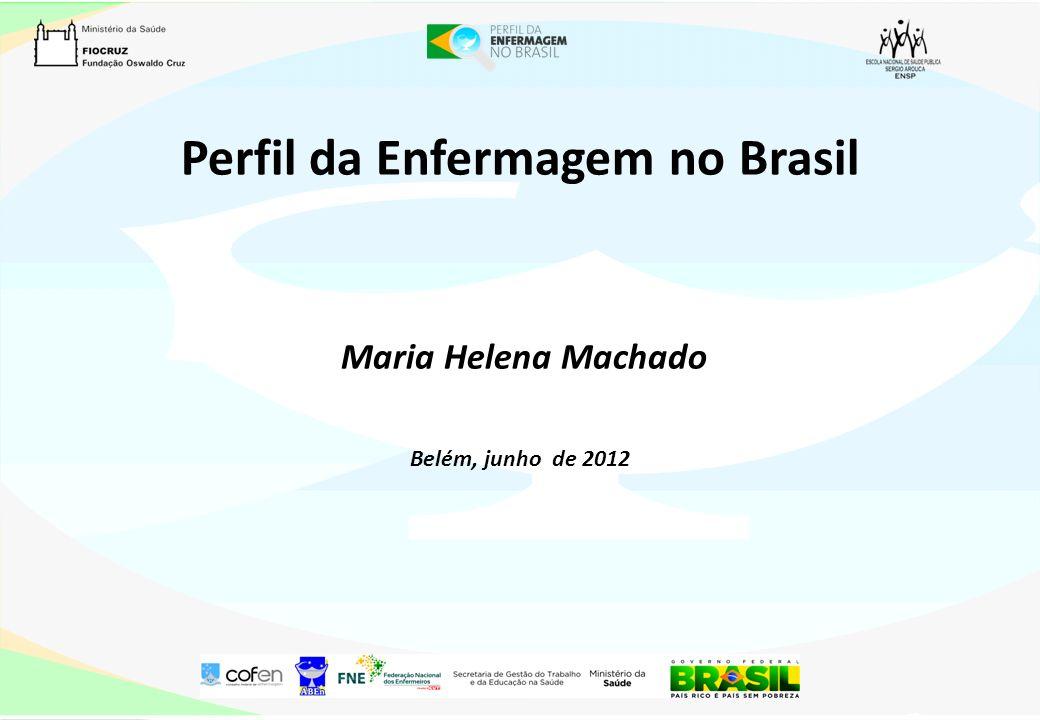 Perfil da Enfermagem no Brasil Maria Helena Machado Belém, junho de 2012