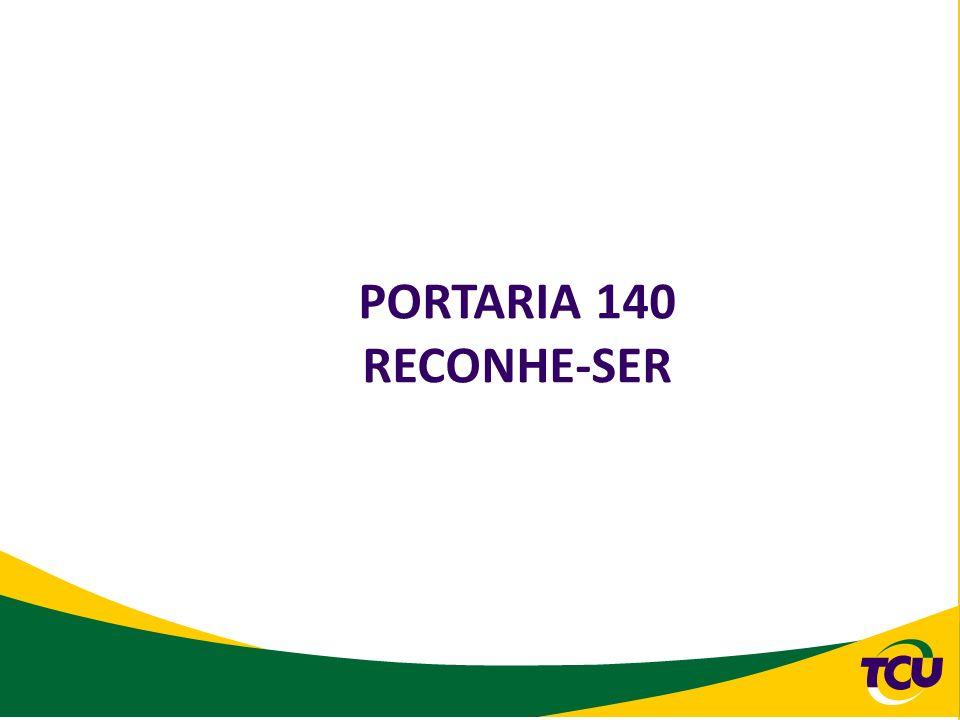 PORTARIA 140 RECONHE-SER